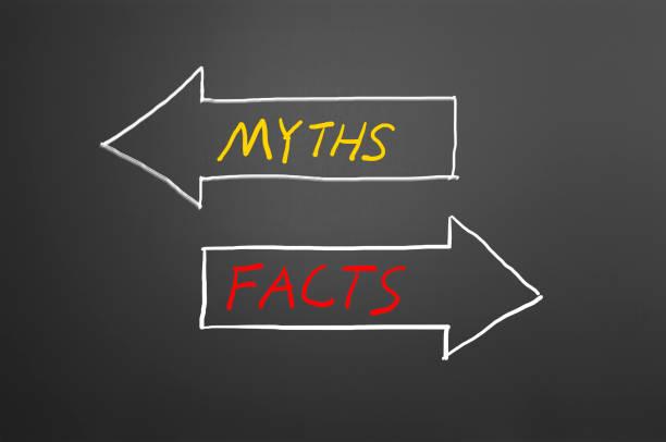 Mythes ou faits sur tableau noir - Photo