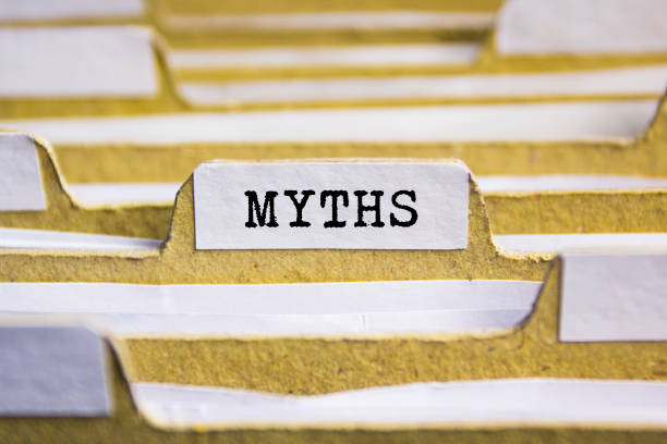 Myths word on card index paper Myths word on card index paper information equipment stock pictures, royalty-free photos & images