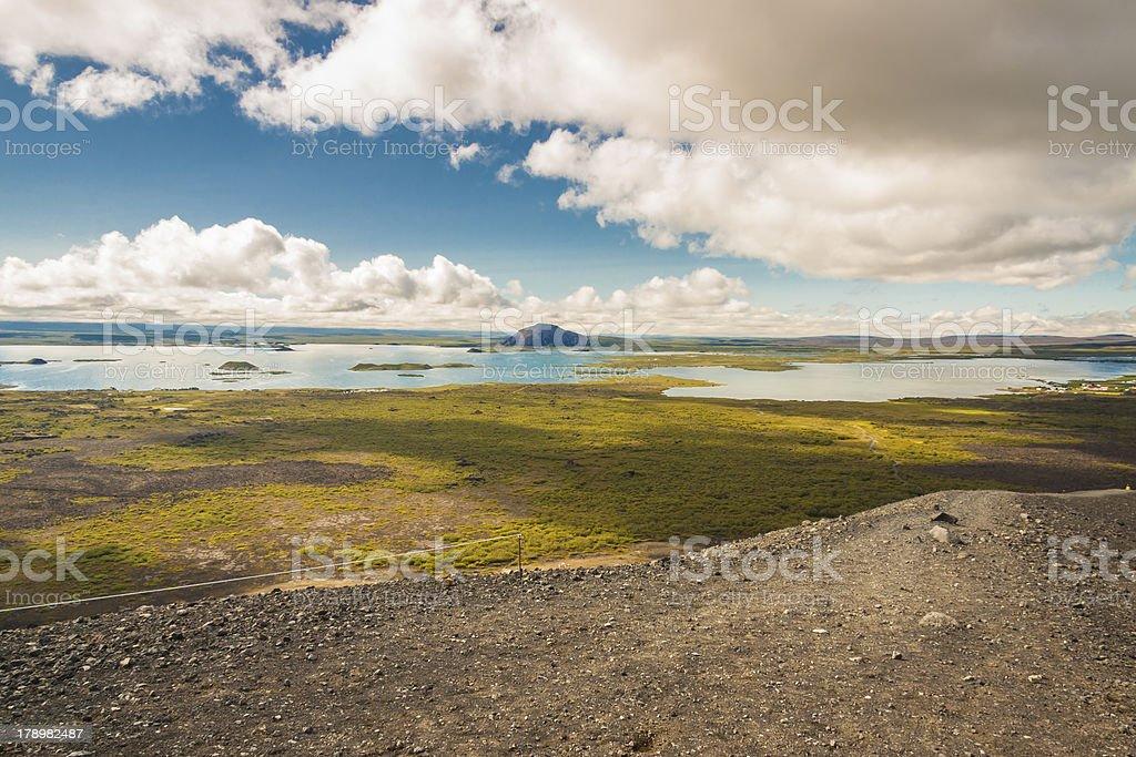 Myvatn lake. Iceland. stock photo