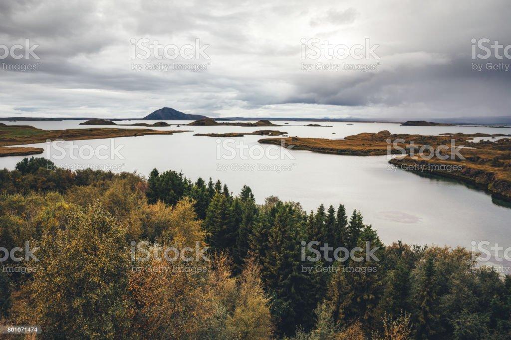 Myvatn Lake In Iceland stock photo
