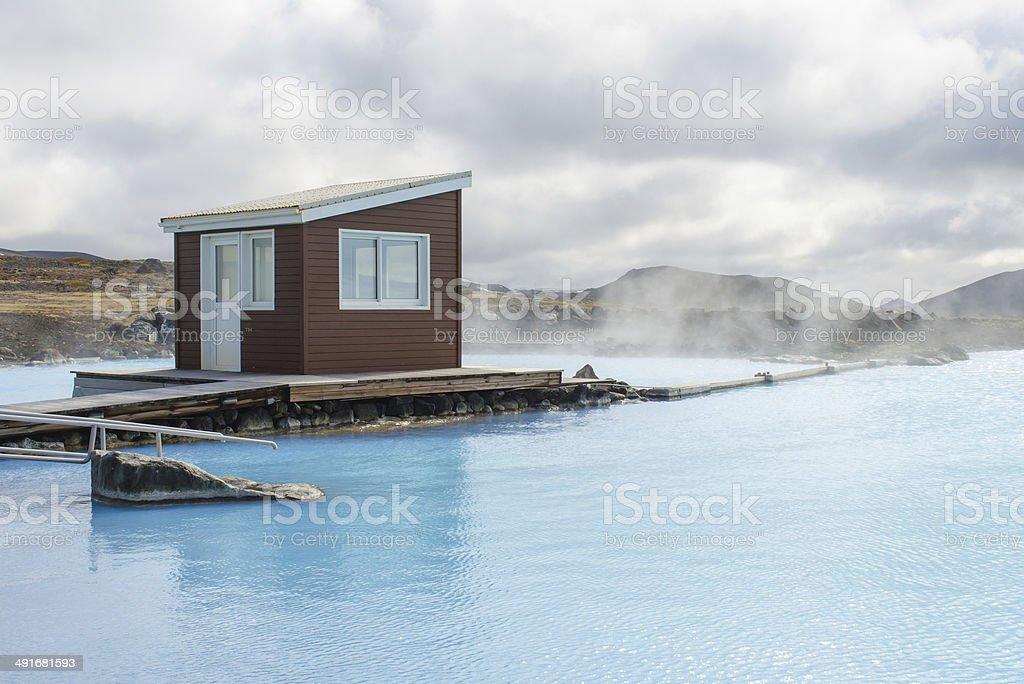 Myvatn Nature Baths near Lake Myvatn in Iceland stock photo