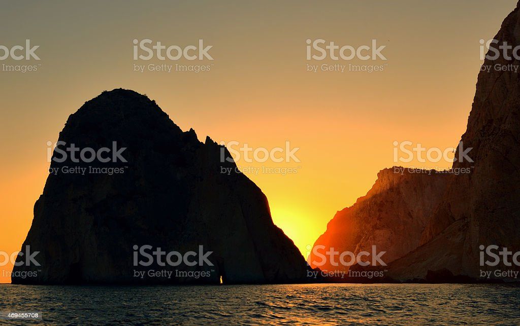 Myzithres Rocks at Zakynthos stock photo
