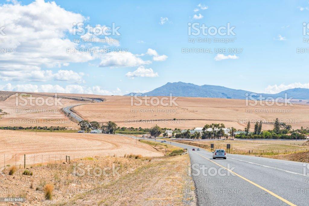 N2-Road between Caledon and Botrivier stock photo
