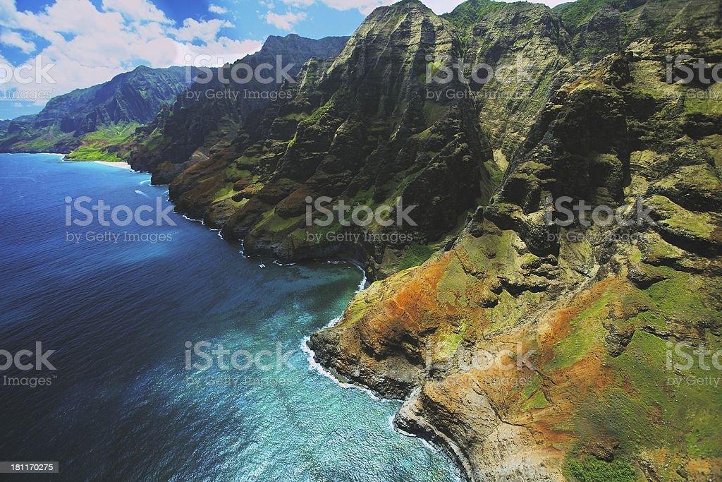Na Pali Cliffs stock photo