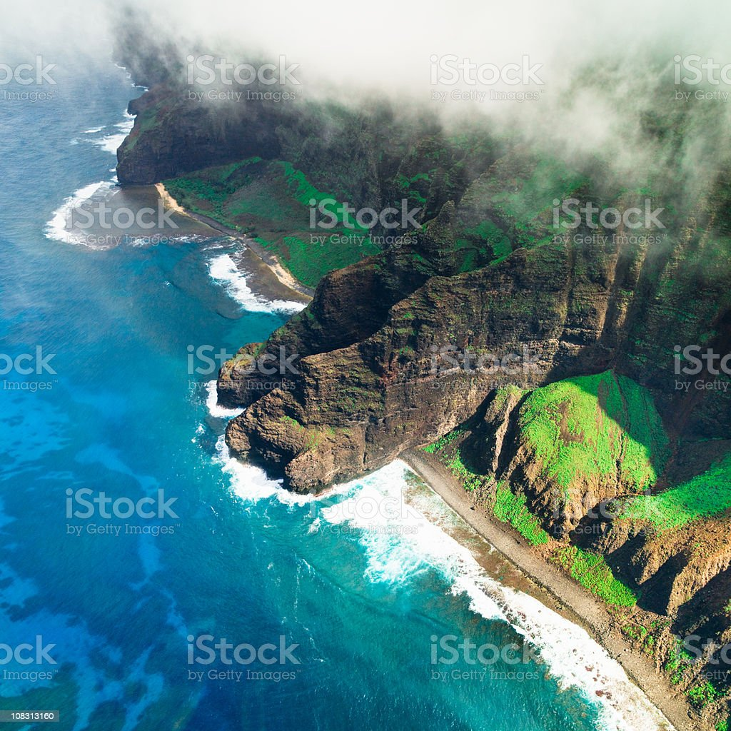 Na Pali Coast Kauai Island Hawaiian Islands stock photo
