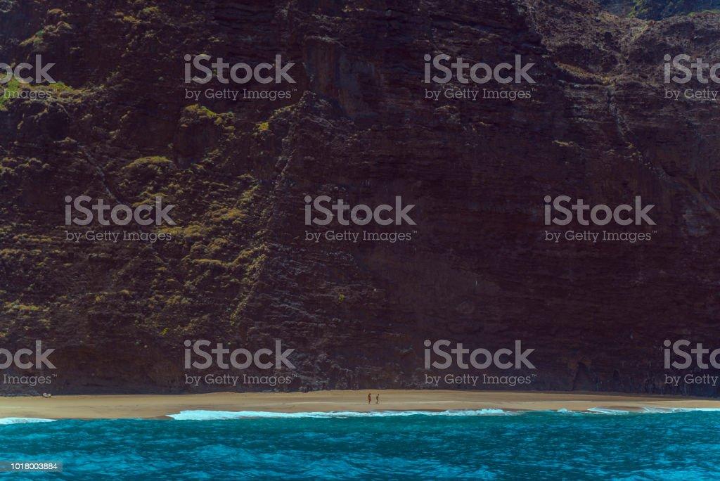 Na Pali Coast Line stock photo