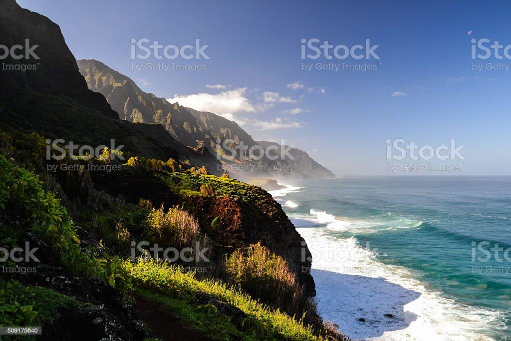 Na Pali Coast near Kalalau Beach - Kauai, Hawaii stock photo