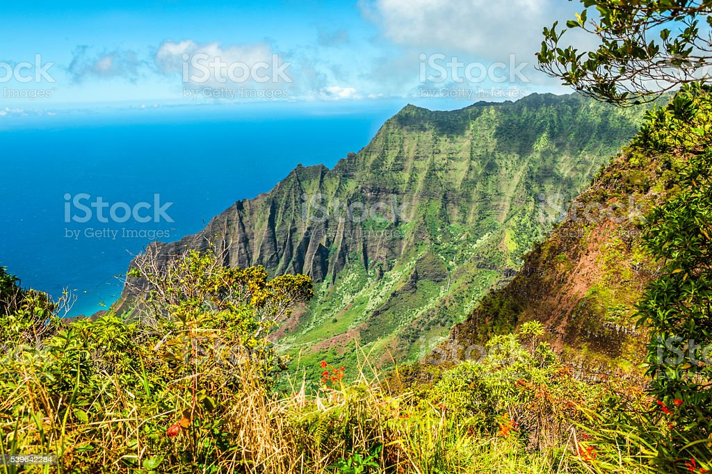 Na Pali Coast of Kauai stock photo