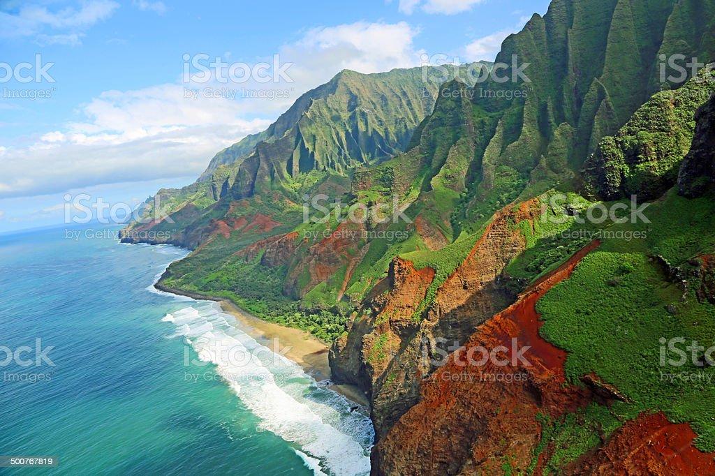 Na Pali coast stock photo