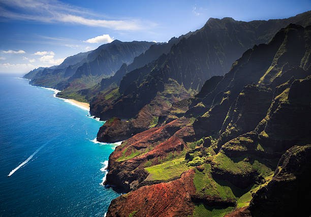 Na Pali Coastline Kauai stock photo
