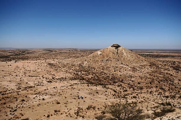 Naasa Hablood mountain in Somaliland, Somalia stock photo