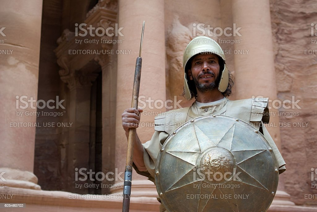 Nabatean soldier stock photo
