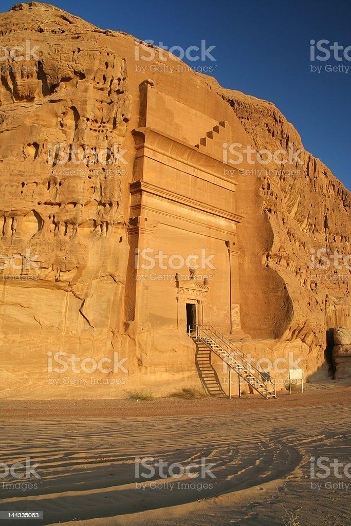 Nabatean tomb royalty-free stock photo
