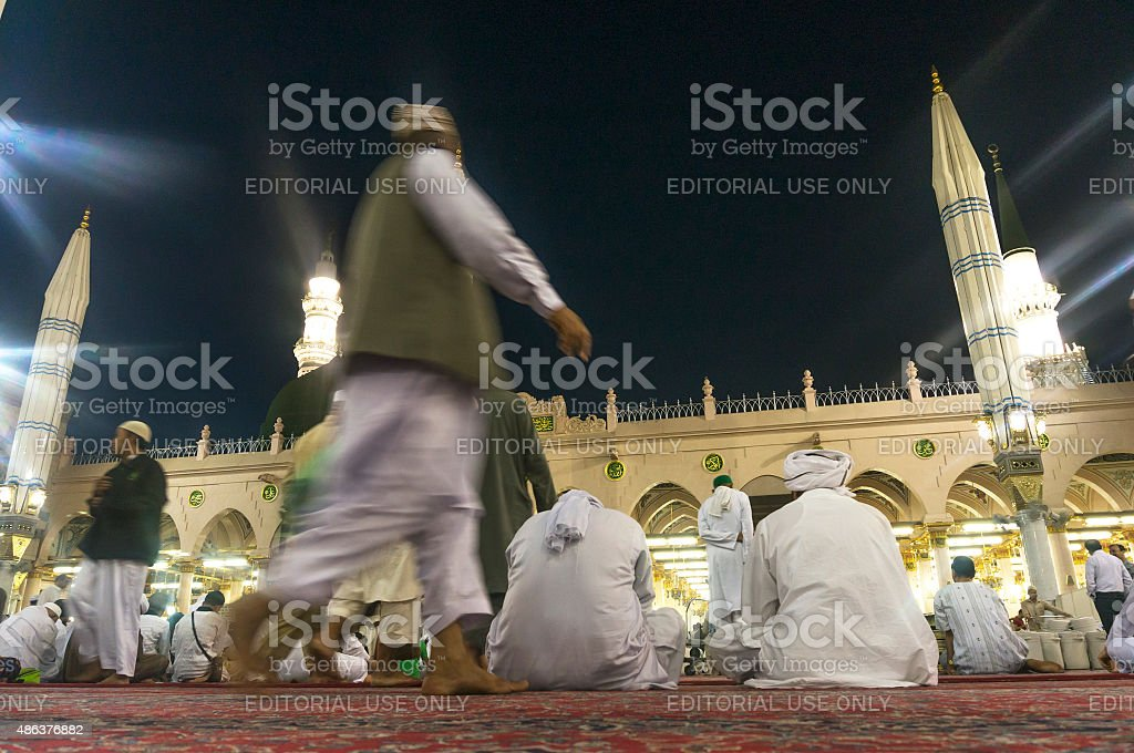 Nabawi mosque stock photo
