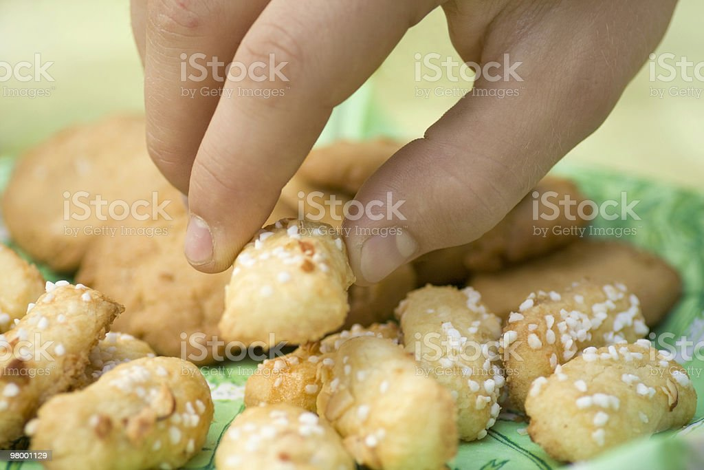 Nabbing a cookie royalty-free stock photo