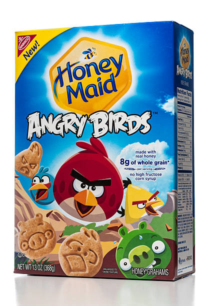 Nabisco Honey Maid Angry Birds Grahams box stock photo