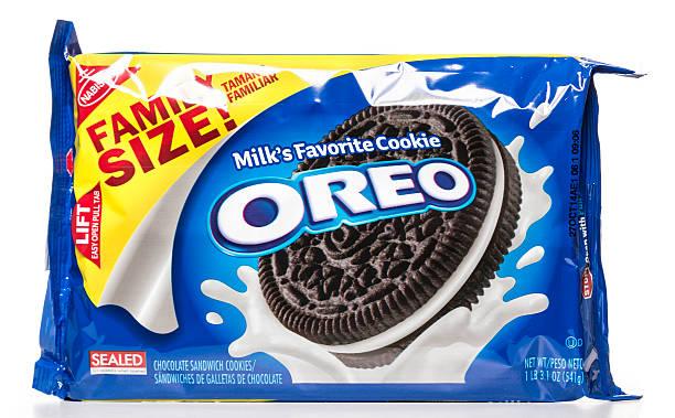 Nabisco leite OREO Cookie favoritas da família tamanho do pacote - foto de acervo