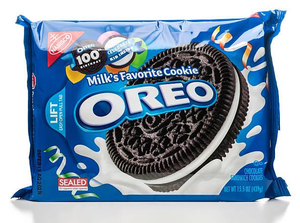 Nabisco leite OREO Cookie vedada favoritos pacote - foto de acervo
