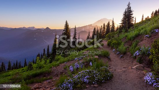 Naches Peak Loop trail is one of the most popular in Mt Rainier NP, Chinook Pass.