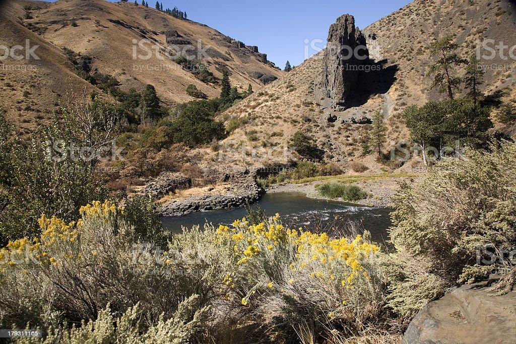 Naches River Cougar Canyon Yakima Washington royalty-free stock photo