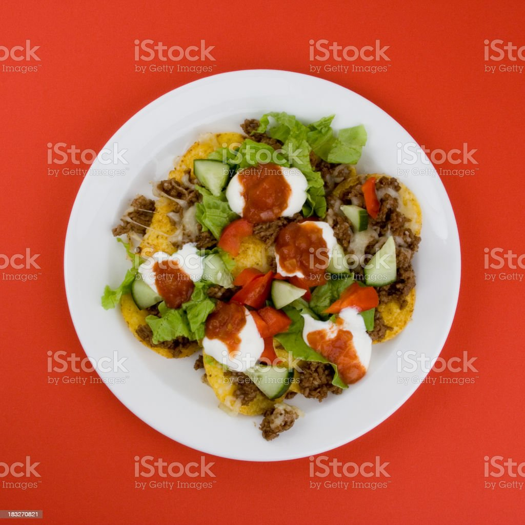 Nacho plate royalty-free stock photo