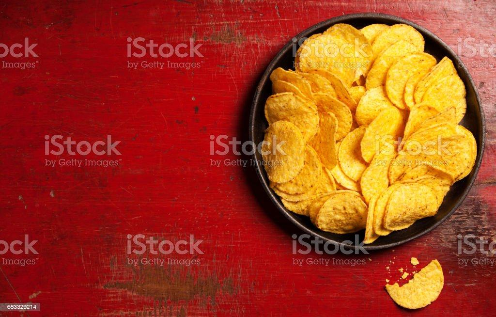 Nachos chips zbiór zdjęć royalty-free
