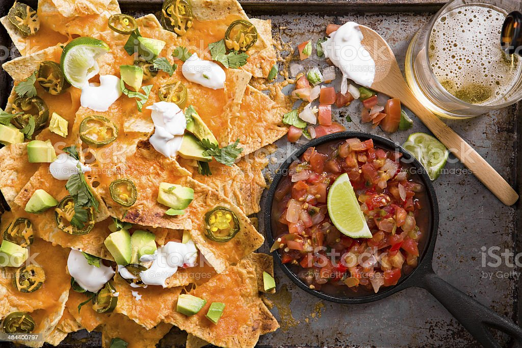 Nachos Salsa And Beer Stock Photo Download Image Now Istock