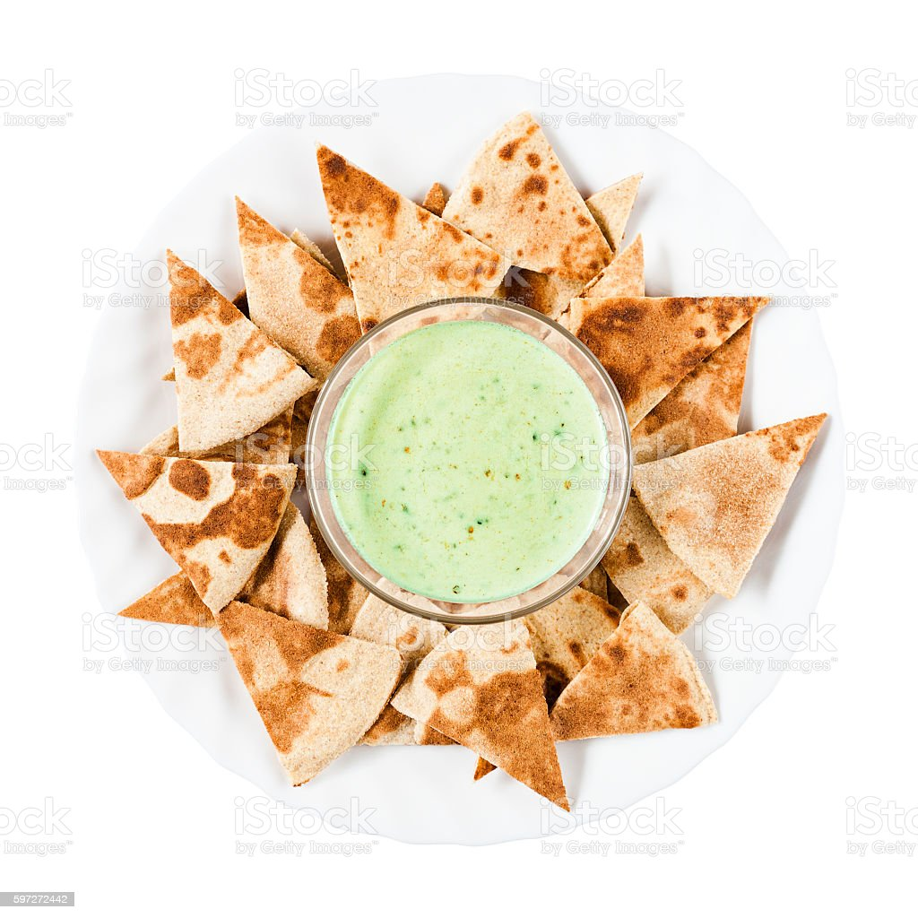 Nachos With Sauce royalty-free stock photo
