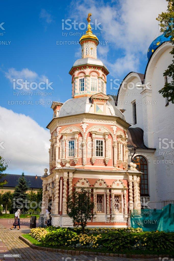 Nadkladeznaya chapelle à Sainte Trinité Saint Sergius Lavra - Photo de Architecture libre de droits