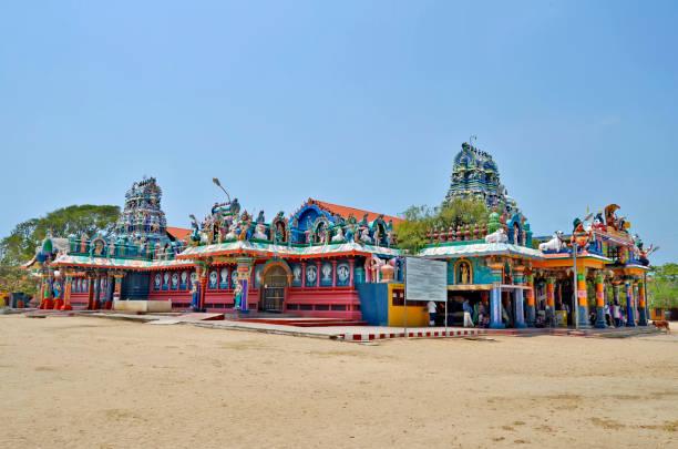Naga Pooshani Ambal Kovil in Jaffna stock photo
