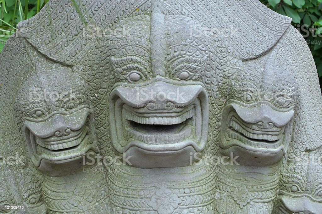 Naga statue royalty-free stock photo