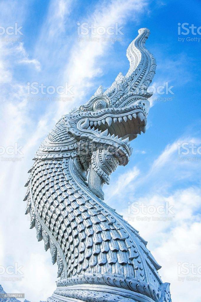 Naga statue stock photo