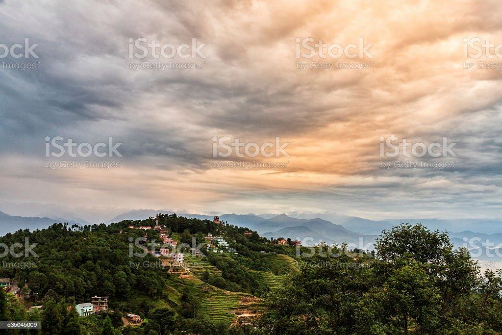 Nagarkot village, Himalaya, Nepal stock photo