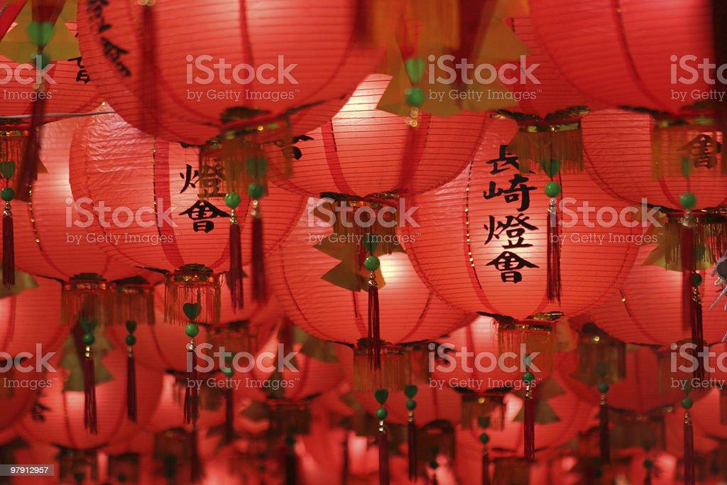 Nagasaki Lantern Festival stock photo
