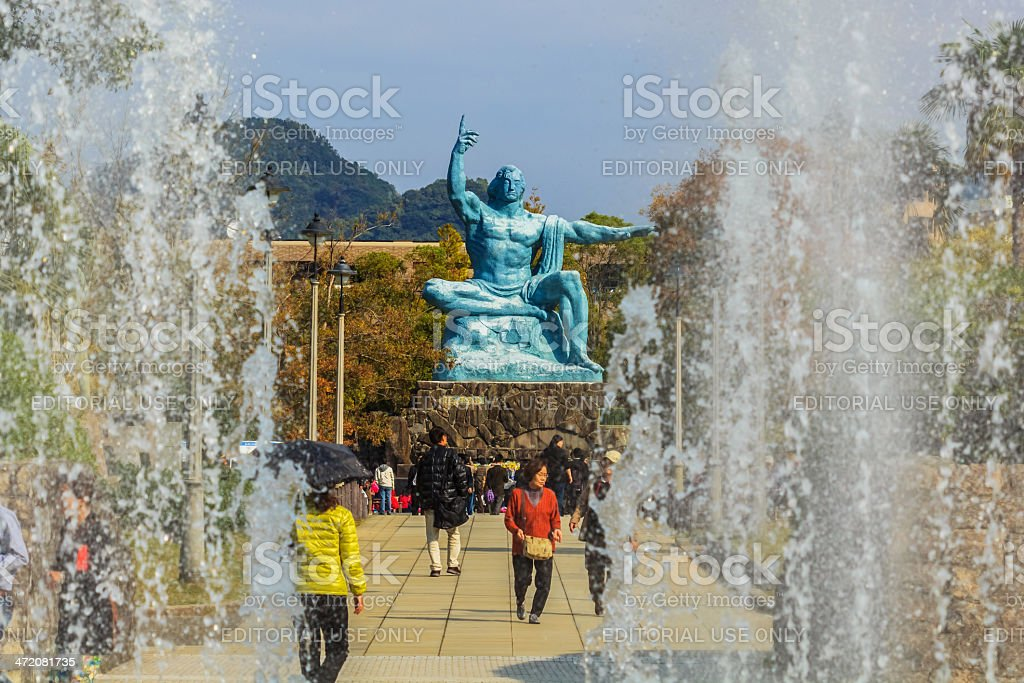 Nagasaki Peace Monument stock photo