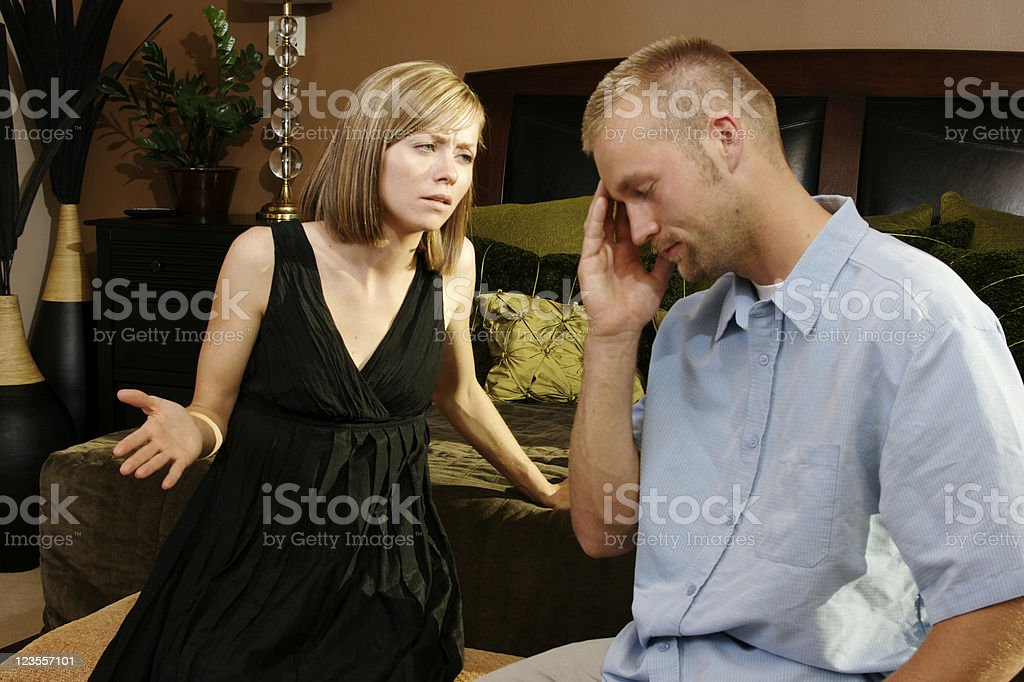 Nagging gives me headache royalty-free stock photo