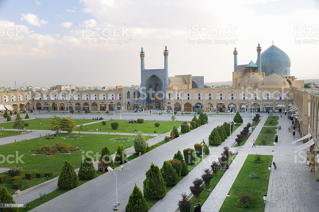 Naghsh-i Jahan Square, Isfahan, Iran stock photo