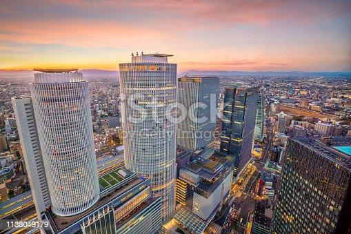 istock Nagoya city skyline  in Japan 1138049179