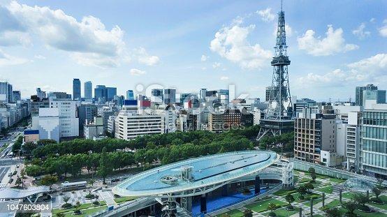 istock nagoya japan landmark. oasis21 and TV tower. 1047603804