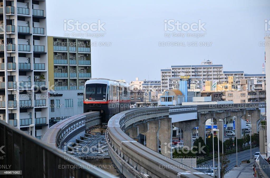 Naha City monorail, Okinawa, Japan stock photo