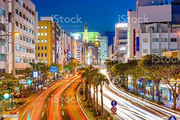 Naha Japan Downtown Cityscape Stock Photo - Download Image Now
