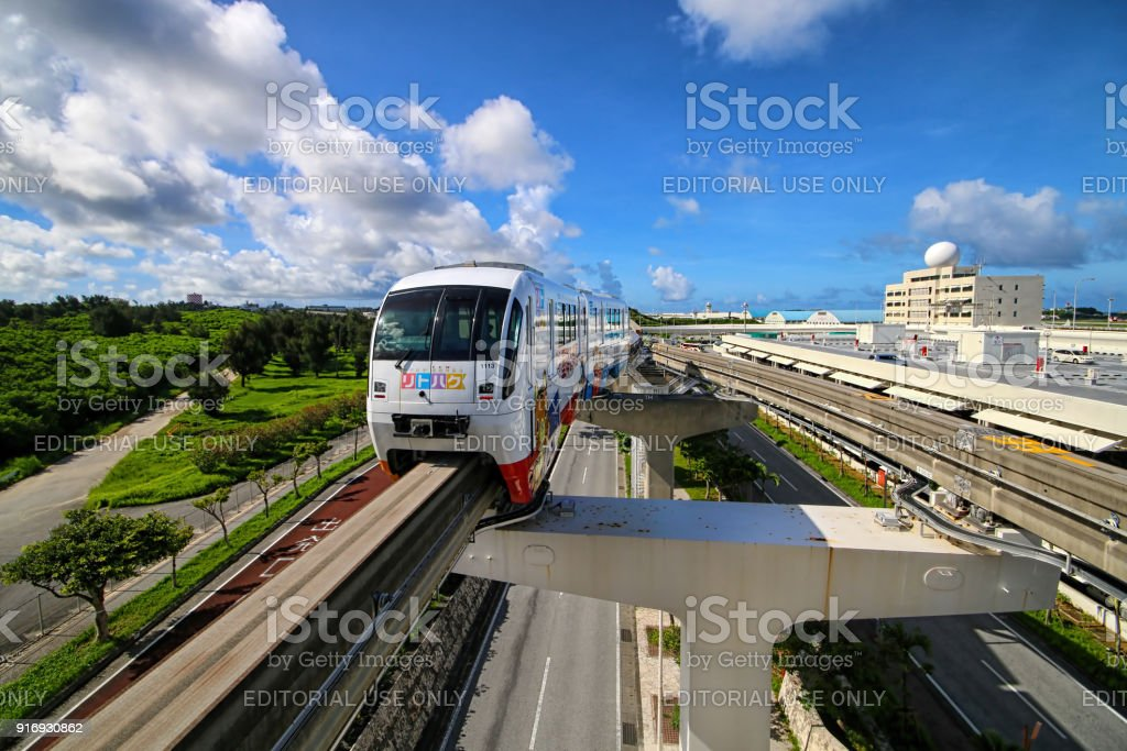 Naha monorail stock photo