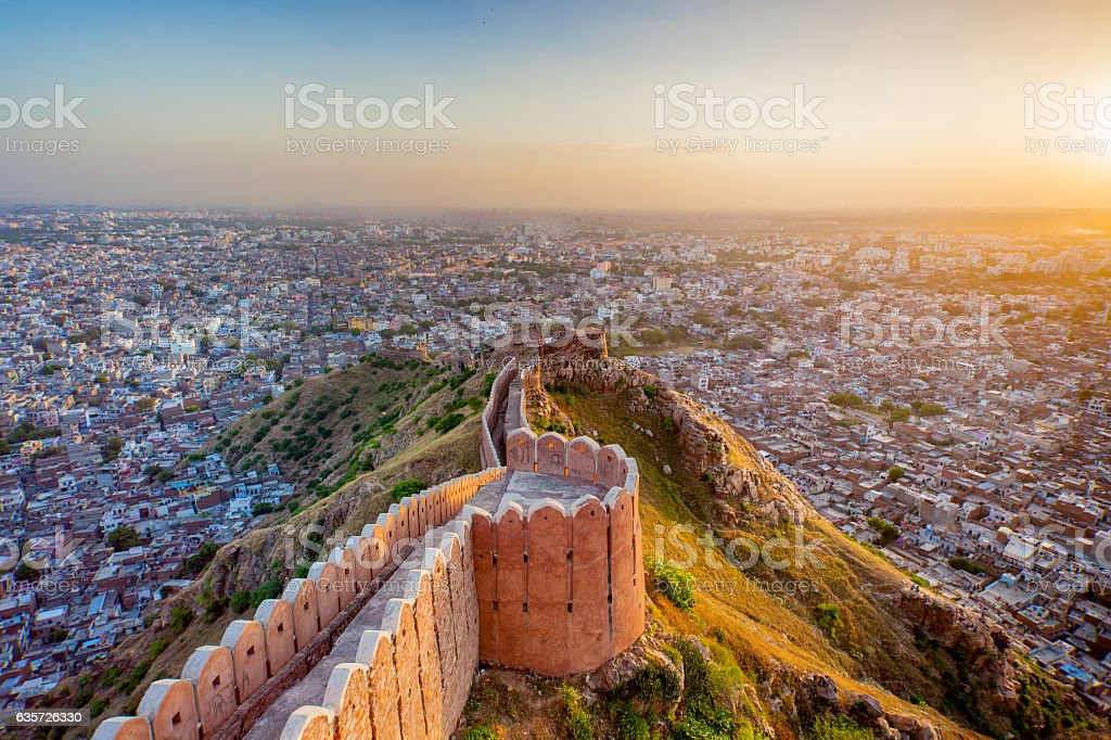 Nahargarh Fort stock photo