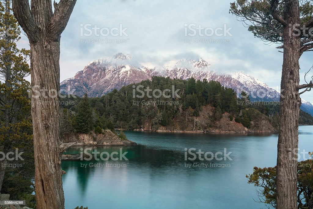 Nahuel Huapi Lake, Bariloche, Patagonia Argentina stock photo
