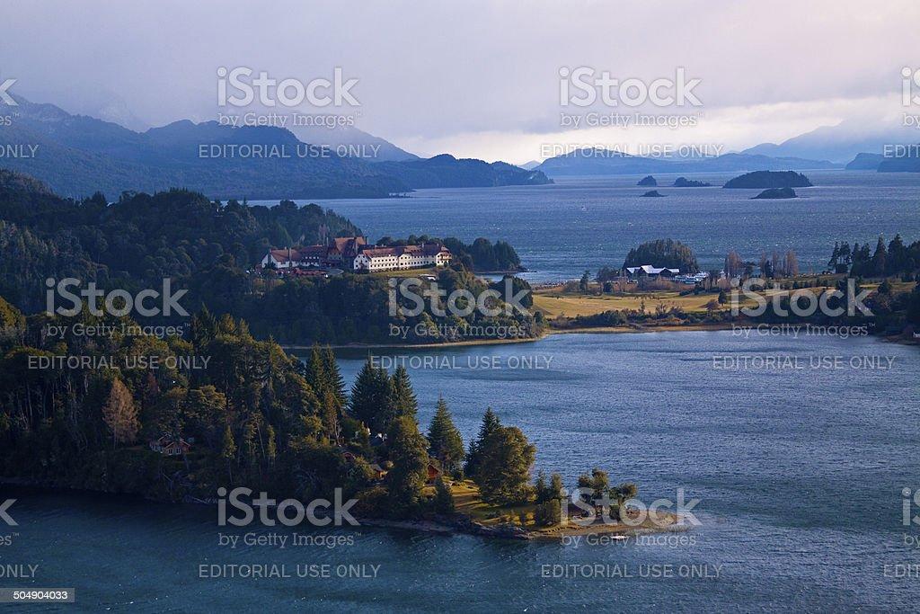 Nahuel Huapi Lake in Bariloche stock photo