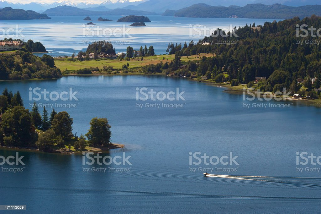 Nahuel Huapi Lake in Patagonia, Argentina stock photo