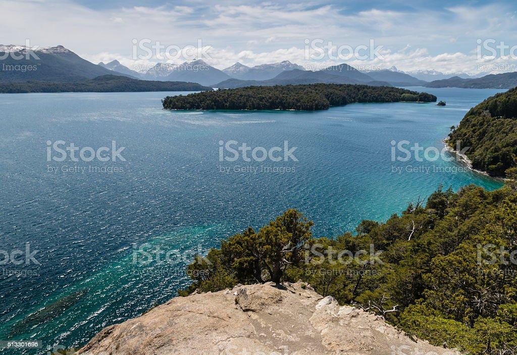 Nahuel Huapi lake in Patagonia stock photo