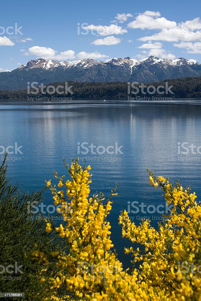 Nahuel Huapi Lake in 'Villa La Angostura' royalty-free stock photo