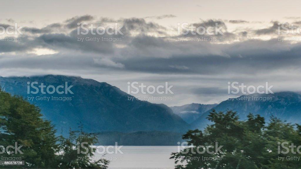 Nahuel Huapi Lake Landscape, Neuquen, Argentina stock photo