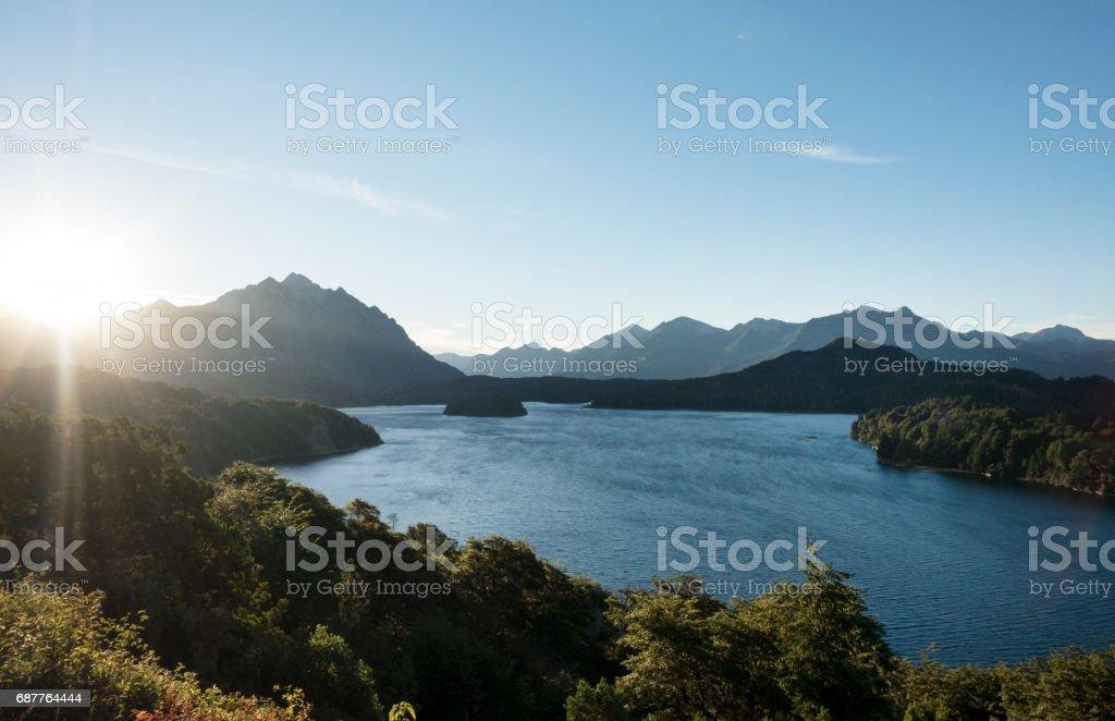Nahuel Huapi Lake stock photo